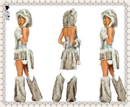 Wholesale 2014 sexy Animal Costumes The Timber wolf Halloween Costume Catwoman costumes sexy halloween costume for women