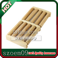 Wholesale 5 Row Wooden Foot Massage Wood Massager Roller Pressure Stress Relief Relax Body Feet Spa