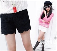 Wholesale Kids Clothes Lace Shorts Summer Hot Hollow Outwear Short Pants Girls Princess Trousers Children Clothing Child Cloth Black White D2405