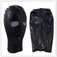Wholesale 1pc Fetish Fantasy Spandex Hood Mask Adjustable Zipper One Size Fit Most J2108