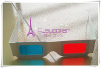 Wholesale 3D Paper Glasses Bring to your best Visual effect disposable Red Cyan paper D glasses with visual shock D visual effect