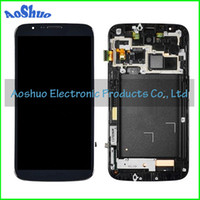 For Samsung Galaxy Mega 6.3 i9200 LCD Screen Panels White and Blue Mega 6.3 LCD Screen Display With Touch Digitizer With Frame Full Assembly For Samsung Galaxy Mega 6.3 i9200 LCD Digitizer Touch Screen