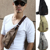 Wholesale S5Q Men s Canvas Military Messenger Shoulder Travel Hiking Fanny Bag Backpack AAACYZ