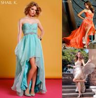 Modern A- Line Prom Dresses Sweetheart Hi- Lo Sleeveless Open ...