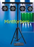 bar lighting systems - 4BAR LED RGB Tri color Par Can Stage Wash Tripod BAR Lighting System Bag Dj Disco Light