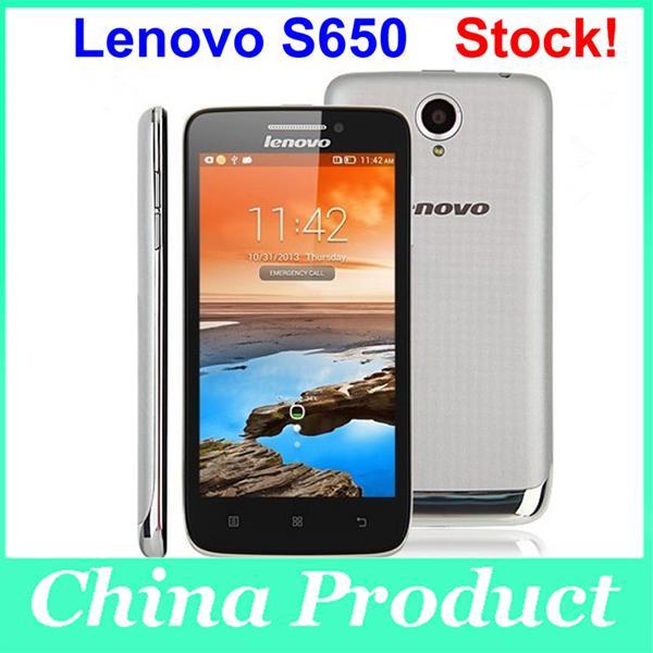Buy Lenovo S650 4.7 inch Capacitive Android 4.2 1GB+8GB Multi-language MTK6582 Quad Core CPU Dual Sim Smart Cellphone bluetooth 002165