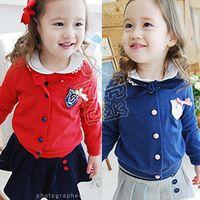Jackets Girl Spring / Autumn Free shipping 2014 autumn girls fashion clothing children's Coat baby cut cardigan wt-0611