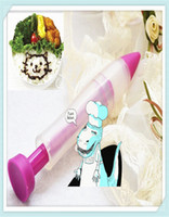 Wholesale new Cake Biscuit Cookie Pastry Icing Decoration Syringe Chocolate Plate Pen Tool