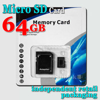 Wholesale P GB Class10 Memory SD Card TF Card Mobile phone card Memory Card with Free Retail Blister Package DHL