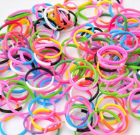 Wholesale DHL Rainbow Loom Refill Bands for Rainbow Loom Wristbands DIY Mix Color bands clips