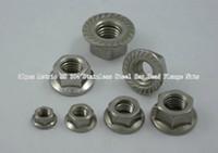 steel flange - 50pcs Metric M8 Stainless Steel Hex Head Flange Nuts