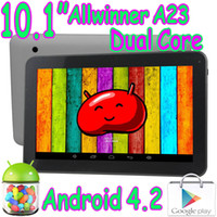 Wholesale 10 inch A23 Dual Core Bluetooth Tablet PC Allwinner Capacitive Touch Screen Android GB RAM GB Play Store Wifi Webcam
