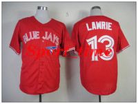 Wholesale Blue Jays Brett Lawrie red jersey with canada flag patch high quality cheapest baseball jerseys brand stitched baseball uniforms