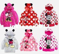 Unisex Spring / Autumn Children 2014 new baby girl cute cartton Minnie mouse hoodies ans sweatshirt kids sweater coat outwear