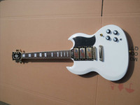 Cheap Firehawk SG electric guitar custom sg pickups white color body with good pickup