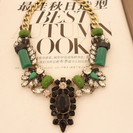Wholesale Vintage Crystal Necklace Unique Designer Statement Exaggerated Shape Major Suit Star Style Party Jewelry Women Necklace A