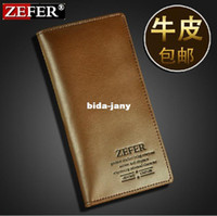 Wholesale men s wallet Brand name genuine Leather Wallet for men Gent Leather purses hot fashion
