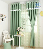 Wholesale Korean style curtain Candy color matt eco friendly shade cloth fabric curtain simple love head curtains