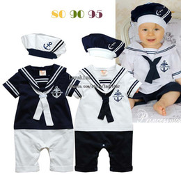 Baby Rompers One Piece Clothing Boys Caps One Piece Romper Jumpsuit Children Clothes White