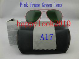 Compra Online Gafas de sol de color rosa-Gafas de sol de las gafas de sol de las mujeres de las gafas de sol de la manera de la venta 1pcs del envío libre los nuevos / gafas de sol de las mujeres 58m m con la caja