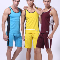 Men Nylon Tops Free shipping WJ men's sport shirt tank top vest gym milk silk undershirt singlet 6 colors