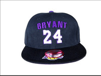 Wholesale 10pcs gogo NBA24 number Bryant fashion bboy skateboard cap quot hip hop dance cap NY baseball cap DC flat along the hat china post send free