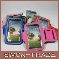 Wholesale Universal waterproof GYM Armband Arm band Belt Pouch cover case skin for Iphone S S C Samsung Galaxy S4 S3 Note