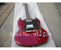 Solid Body 6 Strings Mahogany guitarhot selling G+LP+ SG electric guitar the guitar coustom +soft case red guitar+free shippingelectronic guitar
