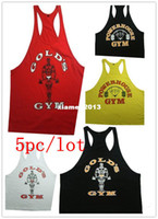 Wholesale Men s Big Muslce GASP Gym Vest Fitness Bodybuilding Workout Sport Tank Tops Sportswear Cotton M XXL pc