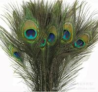 Wholesale 25 CM Genuine Natural Peacock Feather Elegant Decorative Accessories For Party Decoration