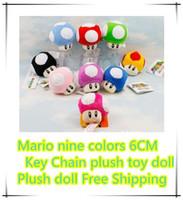 3-4 Years mario plush - Super Mario mushroom people plush toys Mario plush toys dolls Mario nine colors CM Key Chain plush toy doll Plush doll