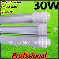 T8 22w SMD 3528 Free shipping 50pcs led tube 1500mm 30w 3000-3300lm 5ft led tube led fluorescent tube t8 lamp 1500mm led tube t8 110v 240v