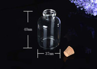 Glass Gift 3740125 Wholesale 12pcs lot 20 ml Glass Vials With Cork Wishing Bottle 37 *40mm 3740125