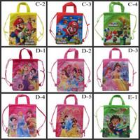 Wholesale New Mix All Popular Drawstring Cartoon Backpack Kids School Bag Sports Handbag Children Party Gift