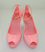 Wholesale New arrival melissa jelly shoes bow platform wedges female sandals open toe high heeled shoes