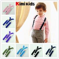 Wholesale Children Clip on Adjustable Pants Y back Suspender Braces kids Elastic Belt