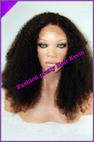Curly afro wigs - Glueless Full Lace Wigs Front Lace wigs Afro Kinky Curly Brazilian Virgin Human Hair Wigs For African Americans