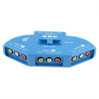 Wholesale 3 Video Devices to TV Set Black AV RCA Multi Box NEW