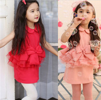 Wholesale Purchasing Available New Summer Kids Girl s Lotus Leaf Sleeveless A line Princess Dress Pink Red T0321