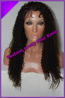 Wholesale Brazilian Virgin Hair Afro Kinky Curly Front Lace Wigs Full Lace wig For Black Women African American Human Hair Freeshipping