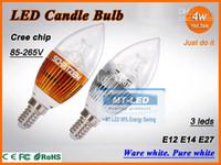 Wholesale X30 DHL High power W Led candle Bulb E14 E12 E27 V LED chandelier Dimmable led light lamp lighting spotlight downlight