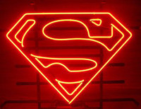 Red bar books - NEW SUPERMAN COMIC BOOK HERO ACTION REAL GLASS NEON LIGHT BEER BAR PUB SIGN