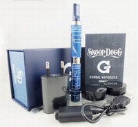 Wholesale Micro G pen Snoop Dogg blue gift box Wax herbal dry herb atomizer from Grenco Science LBC dry herb vaporizer pen vapor cigarettes kits DHL