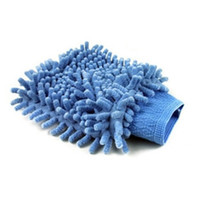 Brush Sponges, Cloths & Brushes Zhejiang China (Mainland) Ultrafine fiber chenille double faced wipe car gloves cleaning cloth car wash gloves dust gloves