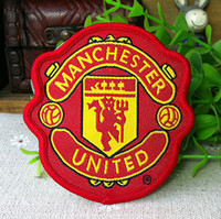 Wholesale Lovely Yellow Badge football Iron On Patches hat Made of Cloth Guaranteed Quality Appliques