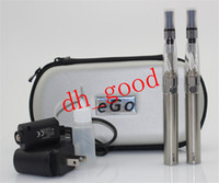 Case cases sets - eGo CE4 Double Starter kit CE4 atomizer batteries in eGo zipper case mah mah mah battery Electronic Cigarette set series