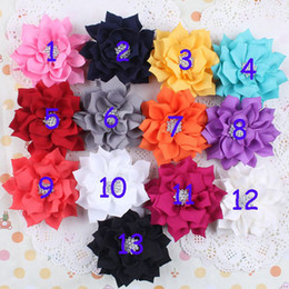 Hot Fashion CZ Diamond Fabric Flowers DIY accessories Flowers For Baby Headbands Girls Flower Hair Accessories 3inch Winter Flowers