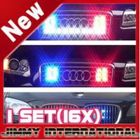 Wholesale NEW CAR LED x LED W EMERGENCY STROBE GRILL LIGHT JN16x2 LED
