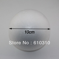 Wholesale Free shiping cm natural white styrofoam round balls Craft ball foam ball diy handmade painted ball