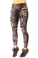 Wholesale 2014 New High Waist Leggings Fitness Pants For Women Leopard Printing Elastic Gym Trousers Yoga Colors S M L XL